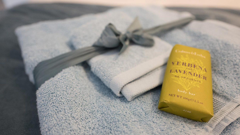 towels soap